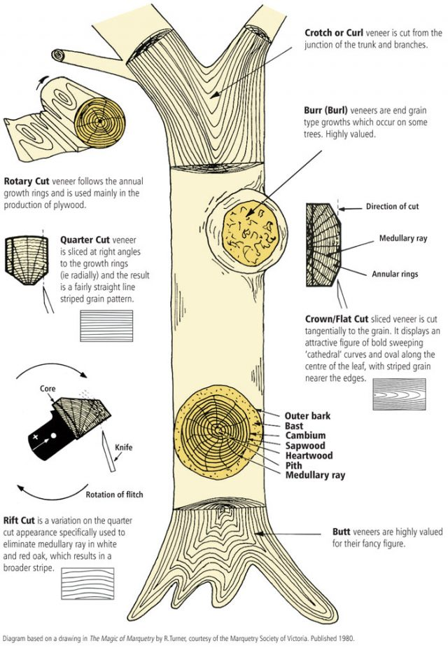 A cut above: veneer cutting methods