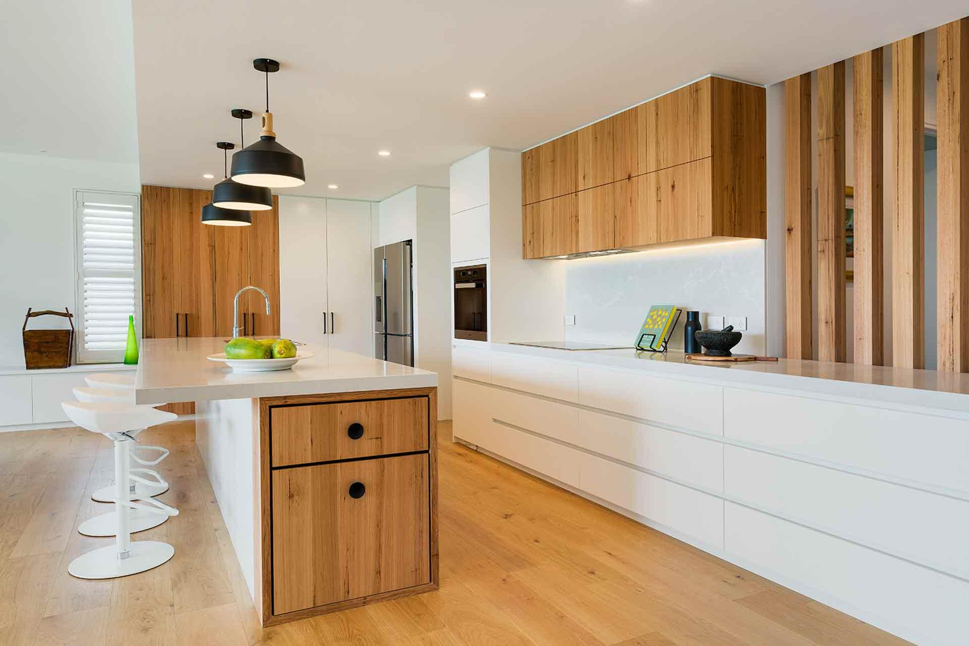 Premium Sliced Veneer - Timber Veneer Kitchen Design